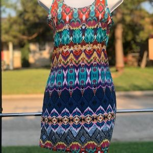 Festival fun Bodycon mini dress women's size S